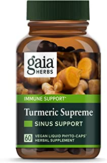 Sponsored Ad - Gaia Herbs, Turmeric Supreme Sinus Support, Turmeric Curcumin Supplement for Seasonal Allergy Support, Non-...