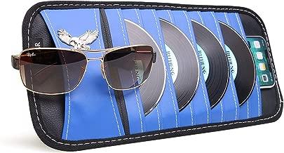 VXAR Car CD DVD Sun Visor Organizer Holder Blue
