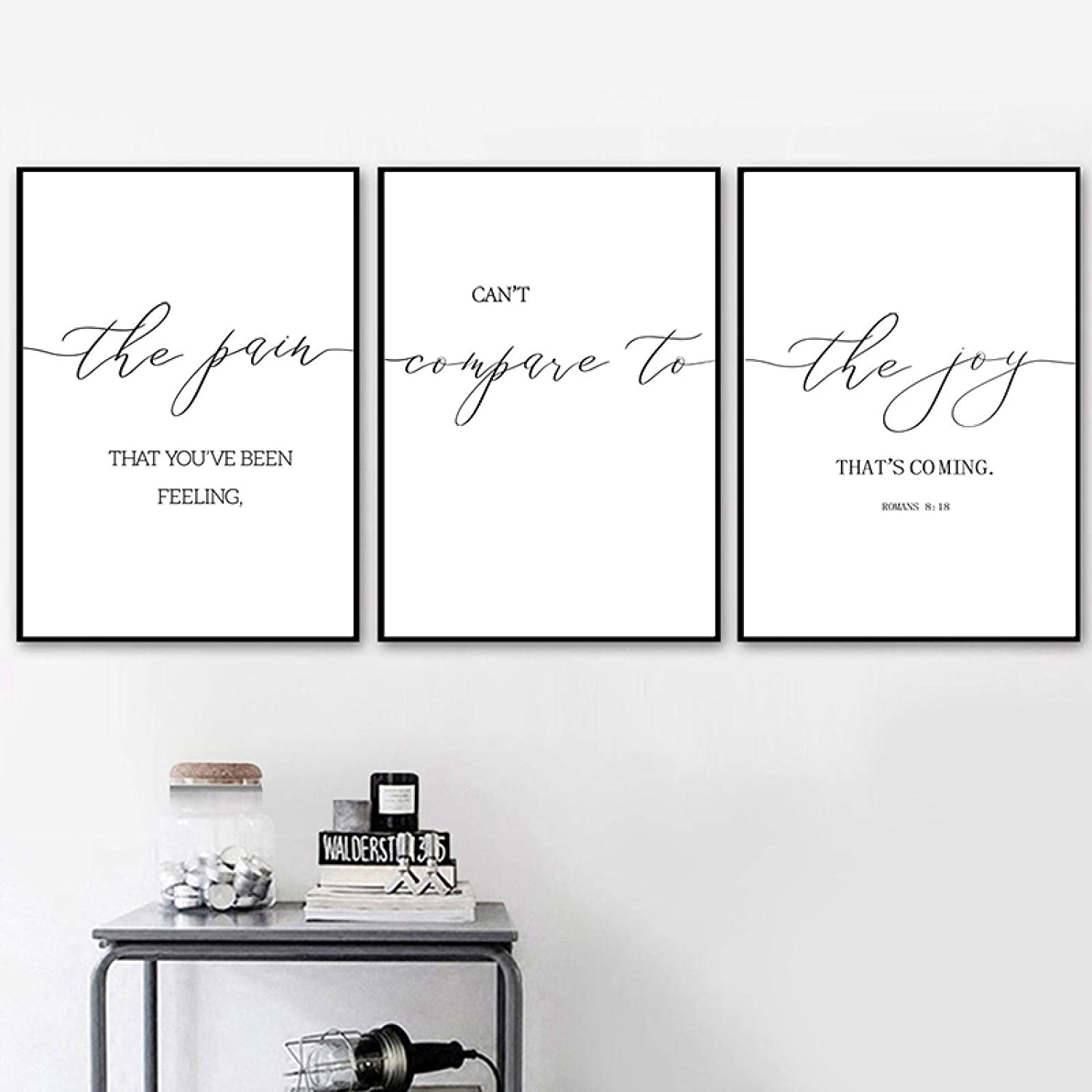 Sunsightly Print on Canvas Bible Scripture Classic Verse Poster Max 82% OFF Wa