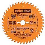 CMT 271.250.42M Lama Circolare Itk-Plus per Taglio Lungo e Traverso Vena, Arancio...