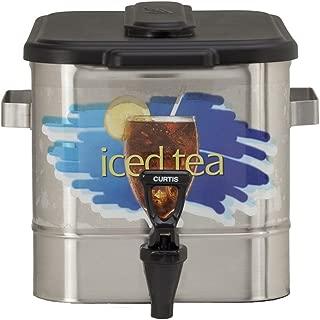"Wilbur Curtis Iced Tea Dispenser 3.0 Gallon Tea Dispenser, Oval 9.25""H - Designed to Preserve Flavor - TCO308A000 (Each)"