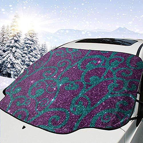 Jeffrey Toynbee Bild von Swirly Lila und Türkis Glitter Auto Windschutzscheibe Sonnenschutz Schnee EIS Windschutzscheibe Schutzfolie