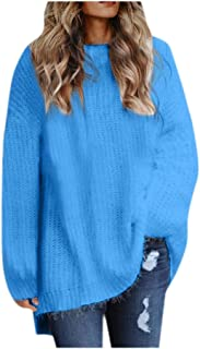 Women O-neck Sweater Tops, Ladies Solid Long Sleeve Loose Pullover Top Blouse Sweatshirts