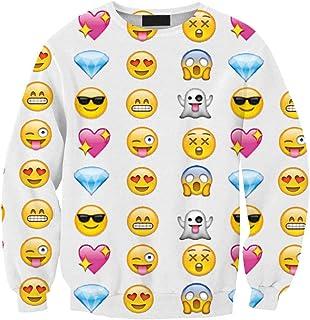 Women Emoji Printed Sweatshirt Women Hoodies Fashion Emoji Clothes Casual Suit Track Suits
