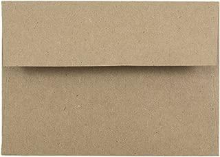 JAM PAPER 4Bar A1 Premium Invitation Envelopes - 3 5/8 x 5 1/8 - Brown Kraft Paper Bag - Bulk 500/Box