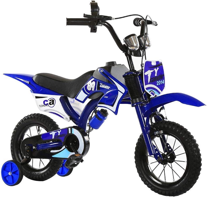 MDYMX Vélo pour Enfants Vélo Tout-Terrain pour vélo de Montagne pour Enfants, Couleur Rouge, Bleu, 12 Pouces Vélo à pédales pour Enfants ( Couleur   bleu )