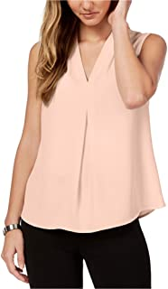 Womens Pleat Front Pullover Blouse