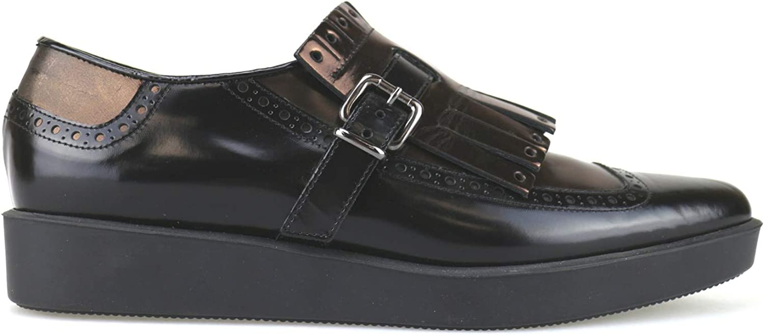 JEANNOT Oxfords-shoes Womens Leather Black