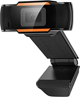 1080P HD Webcam with Microphone, Webcam for Gaming Conferencing, PC Laptop or Desktop Webcam, USB Computer Camera for Mac, Free-Driver Installation Fast Autofocus