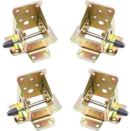 4 Pcs Pied Table Rabattable, Cadre de Support Pliable, Charnières Autobloquantes, Matériel de Charnière Pliable pour établi, Pieds Pliants, Pliable Verrouillage Extension
