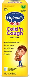 Cold Medicine for Kids Ages 2+ by Hylands, Cold and Cough 4 Kids Daytime, Cough Syrup Medicine for Kids, Decongestant, All...