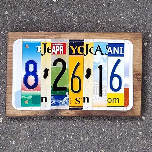 Anniversary License Plate Dates