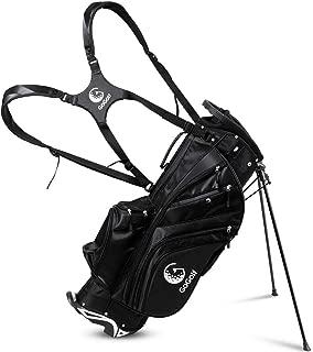 Tangkula Golf Stand Bag w/Shoulder Hyper Lite Strap Rain Cover w/6 Way Divider Golf Carry Bag