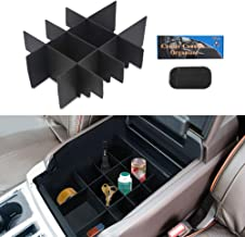 VANJING Center Console Organizer Insert Compatible for Ford F150 (2015-2017) Accessories Organized Console Device Dividers Vehicles with A Car Anti-Slip Mat