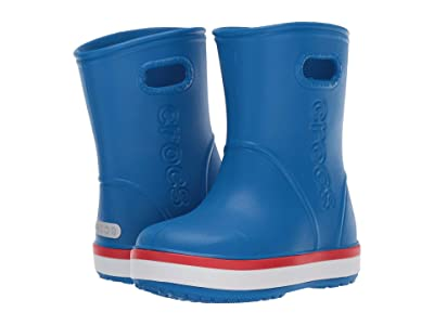 Crocs Kids Crocband Rain Boot (Toddler/Little Kid) (Bright Cobalt/Flame) Kid