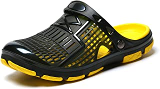 Men's Classic Clogs Garden Shoes Anti-Slip Casual Water Shoe Beach Shower Sandals Summer Slippers