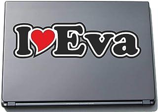 INDIGOS UG - 'I Love Serce' Naklejka Skórka laptopa 210 mm - I Love - Imię Laptop netbook Komputer - Naklejka z imieniem m...