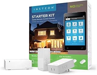 Insteon Smart Lamp Hub Starter Kit Includes 2 Smart Dimmer Plugs & Hub Works With Alexa Uses Superior Dual Mesh Wireless T...