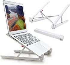 Laptop Stand - Riser for Desk, Steady Foldable Portable Adjustable Ergonomic Lightweight Minimalist Notebook Holder in Desktop to Keep Screen in Eye Level for MacBook Pro Air ThinkPad (Milky White)