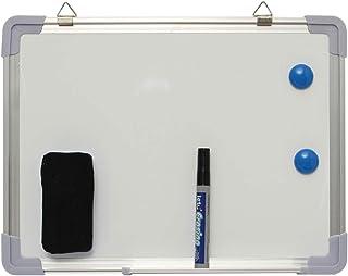 MIDODA Pizarra blanca magnética (30 x 40 cm), color blanco pequeño con 1 rotulador y 1 borrador de borrado en seco para ni...