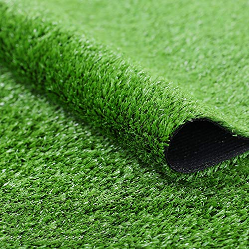 Artificial Grass Turf,4 Tone Synthetic Grass Patch Mat with Drainage Holes Lush & Hard Pet Turf Astroturf Rug for Indoor Outdoor-Green 200x1950cm(79x768inch)