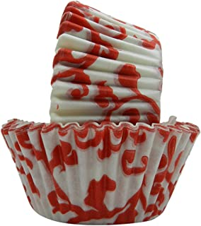 Regency Wraps Greaseproof Baking Cups, Red Ivy,  40 Count, Standard.