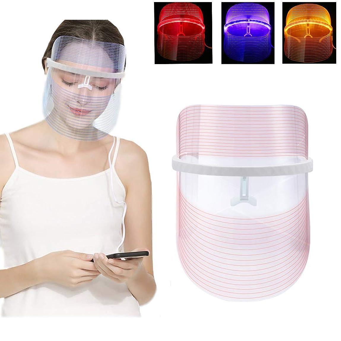 染色髄石鹸3色LEDライト療法のフェイスマスクの美の器械の顔の鉱泉の処置装置の反アクネのしわの取り外し