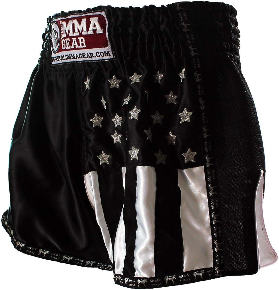 World Large special price MMA Gear Premium Muay San Antonio Mall Thai Kick Retro by - Handmade Shorts