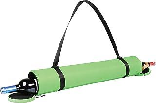 Wild Eye Designs Yoga Mat Wine Bottle Carrier - Tote Bag with Shoulder Strap Holds 2 Bottles (Green)