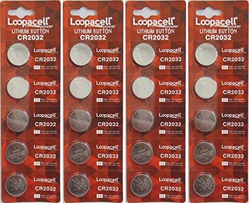 20 Genuine Loopacell CR2032 3v Lithium 2032 Coin Batteries Freshly Packed by Loopacell
