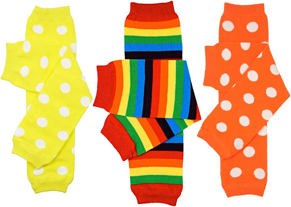juDanzy 3 Selling Deluxe Pair Baby Boy And Leg Girl Warmers Polka Dots Brig