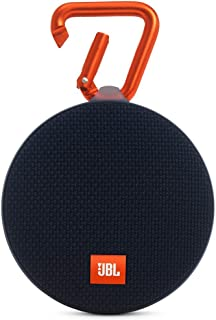 JBL Clip 2 Waterproof Portable Rechargeable Bluetooth Wireless Speaker with Mic, Black (Renewed)
