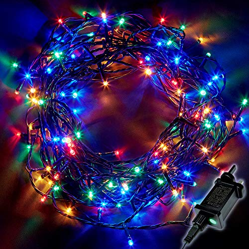 Christmas Tree Lights 750 LED 18.75m Multi-Colour - Fairy String Lights Plug in with Timer and Memory Functions - Suitable for Outdoor/Indoor Use