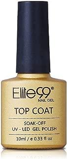 Elite99 Nail Gel Polish No Clean Top Coat Soak Off Uv Led Nail Polish Foundation Sealer Long-Lasting No Clean Top Coat - 10Ml