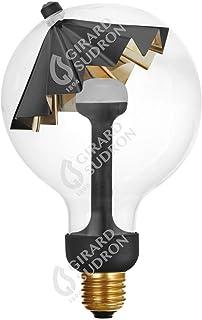 Bombilla Sombrageuse oro negro G125, LED, 5,5 W, E27, 2700 K, 450 lm