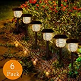 Luces Solars de Jardín GolWof 6 Piezas Led Lámpara Solar Exterior Decoración...