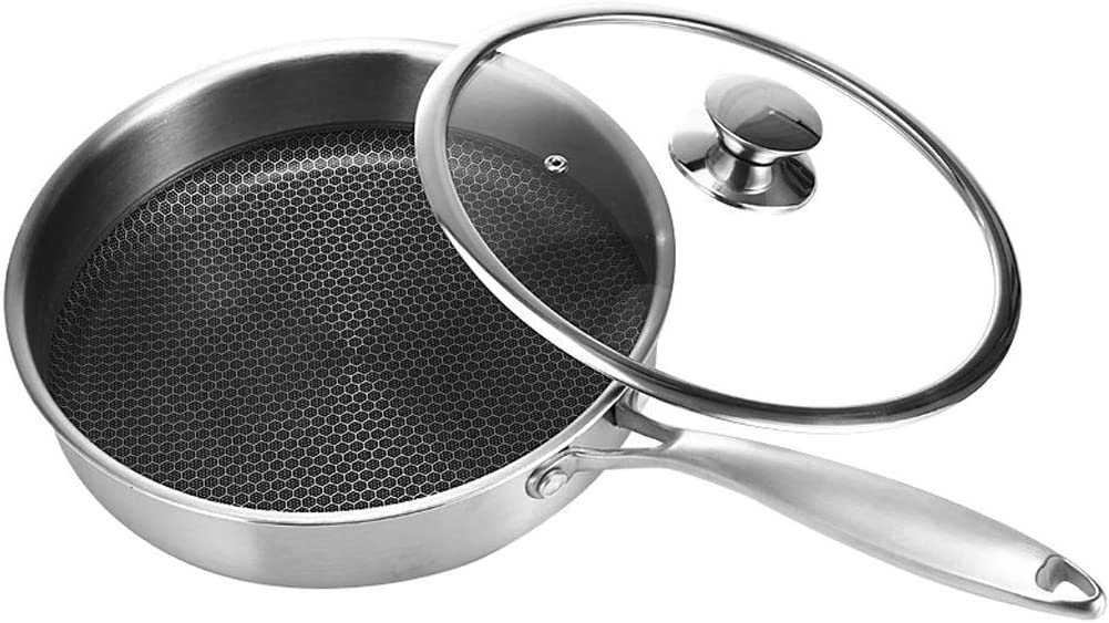 Stir-fried Wok - Stainless Uncoated Pan Non-Stick Los supreme Angeles Mall Steel