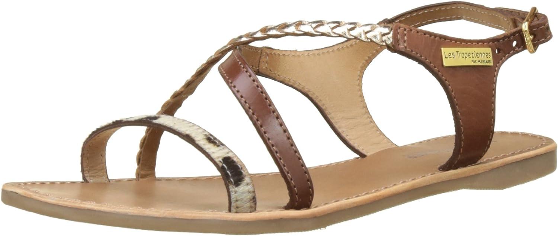 LES TROPEZIENNES par M BELARBI Womens Horse Flat Leather Sandals
