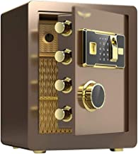 LLRYN Digital Security Safe Box,Fingerprint Biometric Wall Safe Lock Box Cash Strongbox Wall-in Style with Number Keys Eme...