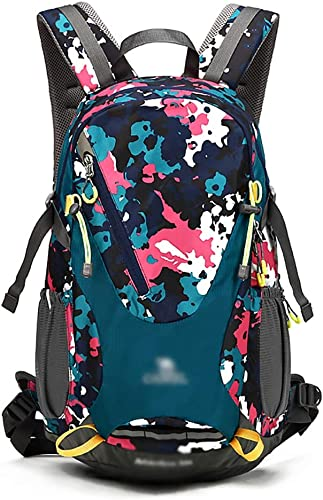 MXRa Sacs de Trekking Sac à Dos extérieur imperméable, Sac de Sac à Dos de Camping, Sac à Dos de décompression (Couleur   bleu Camouflage)