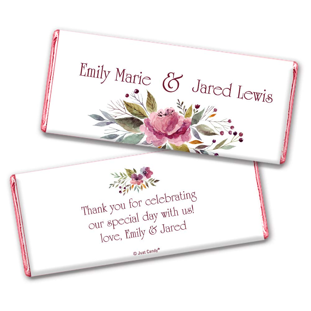 Floral Wedding Super beauty product restock quality top! Favors for Hershey's sold out Chocolat Personalized Guests