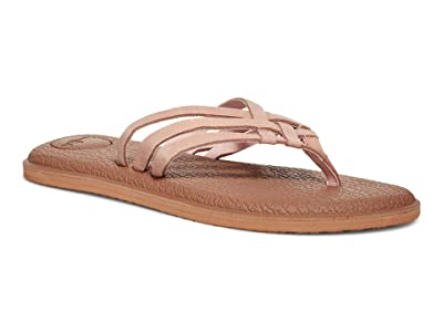 Sanuk Yoga Salty Leather (Rose Smoke) Women