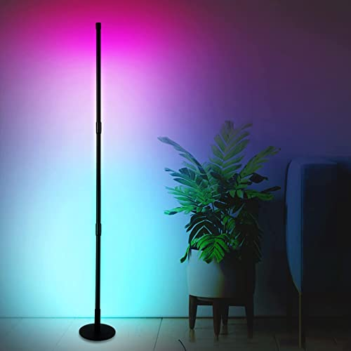 """high quality Led Floor Lamp, BENBOR RGB Color Changing Mood Lighting Corner Lamp, 20W Dimmable Modern Floor Lamp with Remote Control, 2021 52"""" Metal Floor Lamp for Living Room Bedroom sale (Round Base) sale"""
