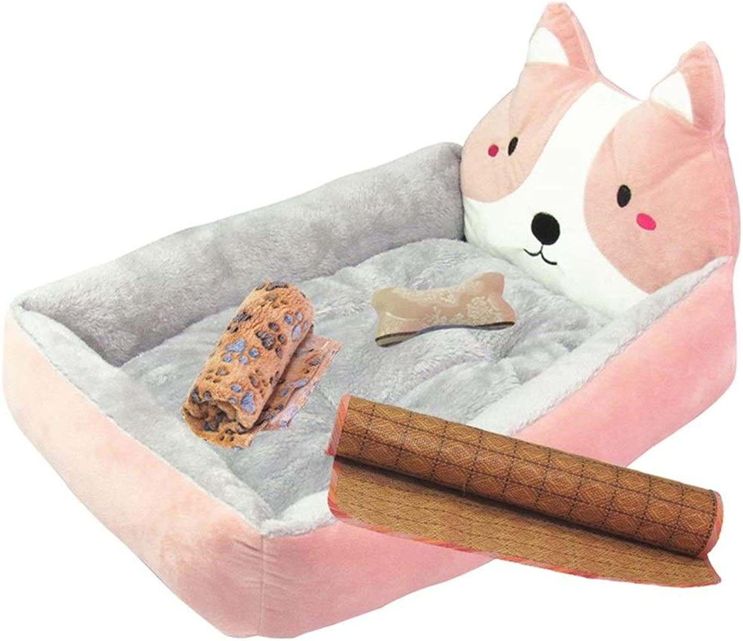 ZXH7f Ortopedia Dog Bed Dog Dog Bed Dog Bed Dog con Remable And Wasable Cover Plush Cody Nest for Small Medium Large Dog House Pad (colore: Pink, Size: 60X50CM)