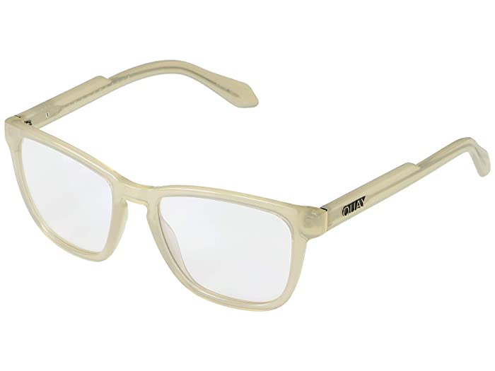 Chrissy X Quay Hardwire (White/Clear Blue Light) Fashion Sunglasses