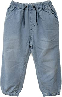 男の子 クロップド ジョガーパンツ 130cm 140cm 150cm 160cm ブリーチ ブルー ヒッコリー 842360