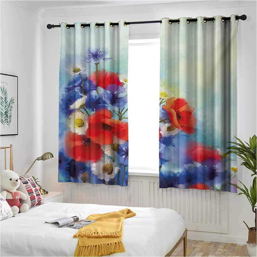 Flower Window Curtains Panel Mail order cheap for Structured Close Living Room Up Recommended