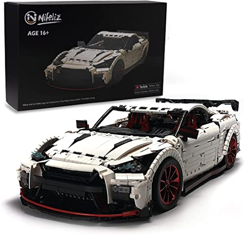 popular Nifeliz Racing Car GTRR MOC Building Blocks and Engineering Toy, Adult Collectible Model Cars Set to Build, 1:8 outlet online sale Scale Race Car Model 2021 (3408 Pcs) online sale