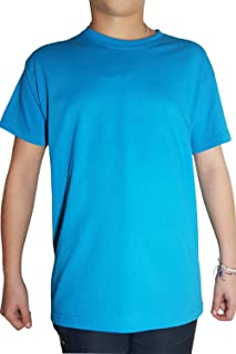 Kalféa - Camiseta de manga corta para niño (algodón, manga corta, cuello redondo)