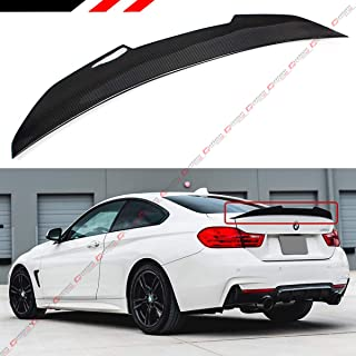 Cuztom Tuning Fits for 2014-2019 BMW F32 4 Series 2 Door Coupe P Sytle High Kick Carbon Fiber Trunk Spoiler Wing